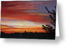 Sunrise Over The Little Miami Greeting Card