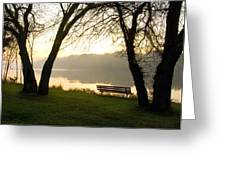 Sunrise Over The Maumee Greeting Card
