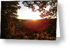 Sunrise Over The Mountain  Greeting Card