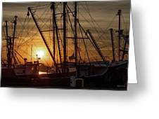 Sunrise Over The New Bedford Harbor Greeting Card