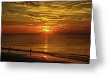 Sunrise Over The Ocean Greeting Card