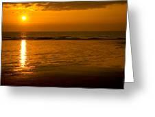 Sunrise Over The Ocean Greeting Card