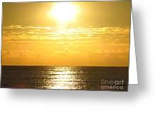 Sunrise Over The Ocean8833 Greeting Card
