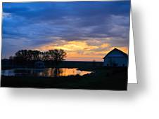 Sunrise Over The Pond Greeting Card