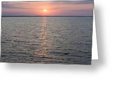 Sunrise Over The Sea Horizon Greeting Card