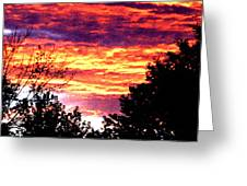Sunrise Over The S.p. Greeting Card