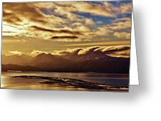 Sunrise Over The Spit Greeting Card