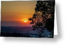 Sunrise Over The Valley Greeting Card