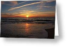 Sunrise Over The Waves Greeting Card