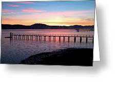 Sunrise Over Tomales Bay Greeting Card