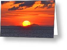 Sunrise Over Western Cuba Greeting Card