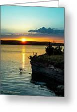 Sunrise Over Wilson Lake Greeting Card