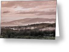 Sunrise Pink Over Tlacolula Valley Greeting Card
