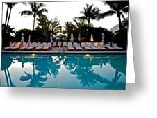 Sunrise Pool Greeting Card