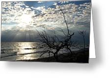 Sunrise Prayer On The Beach Greeting Card