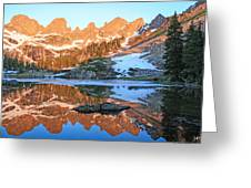 Sunrise Reflection At Willow Lakes Greeting Card