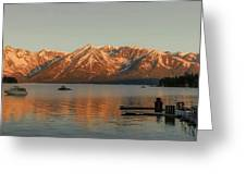 Sunrise Reflections On Colter Bay Greeting Card