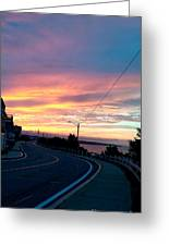 Sunrise Road Greeting Card