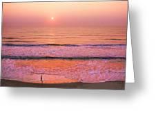 Sunrise Run Greeting Card