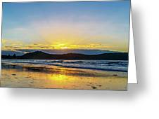 Sunrise Seascape And Crepuscular Rays Greeting Card
