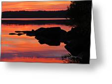 Sunrise Silhouettes  Greeting Card