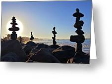 Sunrise Stacks Greeting Card