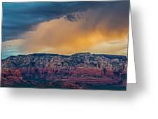 Sunrise Storm Over Sedona Greeting Card