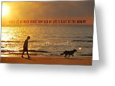 Sunrise Stroll Quote Greeting Card