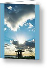 Sunrise Sunburst Lifeguard Station Delray Beach Florida Greeting Card