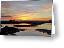 Sunrise-sunset Art Photo - Low Tide II Greeting Card by Jo Ann Tomaselli