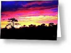 Sunrise Sunset Delight Or Warning Greeting Card