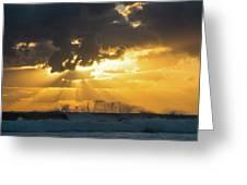 Sunrise Surf Spray Delray Beach Florida Greeting Card