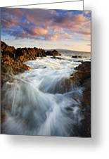Sunrise Surge Greeting Card by Mike  Dawson