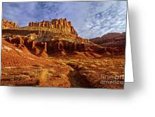 Sunrise The Castle Capitol Reef National Park Utah Greeting Card
