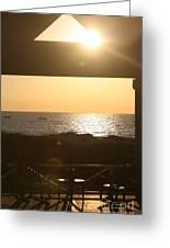 Sunrise Through The Pavilion Greeting Card
