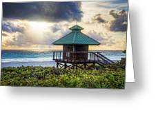 Sunrise Tower At The Beach Greeting Card