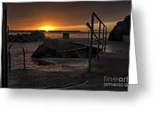 Sunrise Tramore Greeting Card