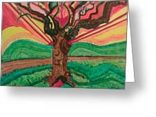 Sunrise Treeair Greeting Card