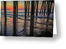 Sunrise Under The Pier Greeting Card