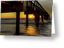 Sunrise Under The Pier  Greeting Card