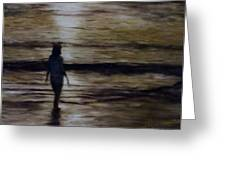 Sunrise Walk In The Sea Greeting Card