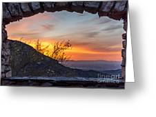 Sunrise Window - Phoenix Arizona Greeting Card
