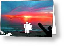 Sunrise With Shark Greeting Card