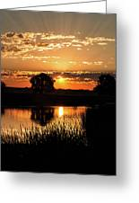 Sunrise's Crepuscular Rays Greeting Card
