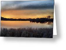 Sunrise On A Frosty Marsh Greeting Card