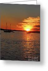 Sun's Up Provincetown Pier 3 Greeting Card