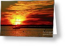 Sun's Up Provincetown Pier 4 Greeting Card