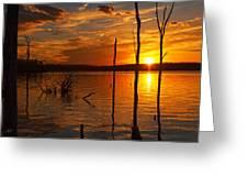 sunset @ Reservoir Greeting Card