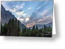 Sunset 1 Yosemite  Greeting Card