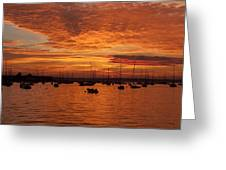 Sunset 4th Of July Greeting Card